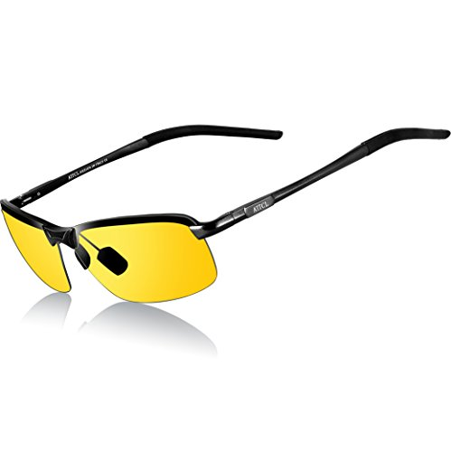 ATTCL Mens Driving Polarized Sunglasses Al-Mg Metal Frame Ultra Light