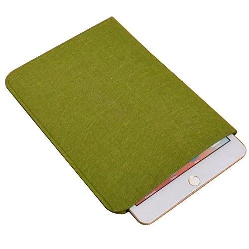 Moollyfox Custodia Per iPad Mini/iPad Air 7.9/9.7 Pollici Laptop Sleeve Felt Busta Copertura Esercito Verde