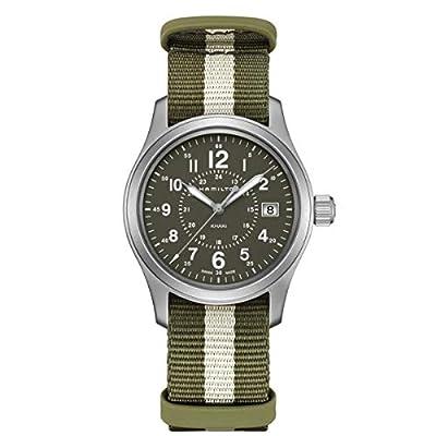 Hamilton H68201063 Khaki Field Quartz Men's Watch Green/White NATO