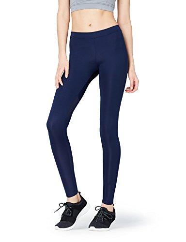FIND Women's Sports Leggings, Blue (Navy), 42 (Manufacturer Size: Large)