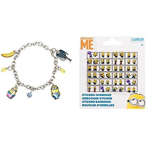 La alegría del juguete 90075 90014 - pulsera esbirros de septiembre con colgantes de metal en la tarjeta de pelo Backer, 24 pegatinas, 18 x 9