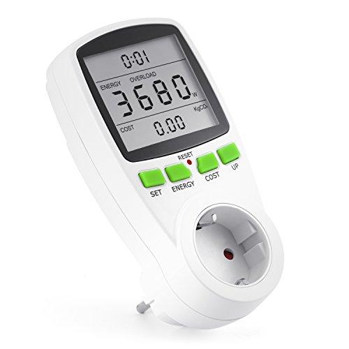 Arendo Energiekostenmessgerät Stromverbrauchszähler, 3680W -