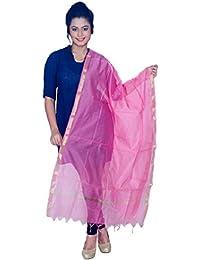 De Global Citizen Women's Bhagalpuri Silk Dupatta (KC014_Pink_Free Size)