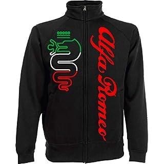 Generico Herren Sweatshirt Alfa Romeo World Rally Team Car STI Tuner Jacket, Schwarz Large