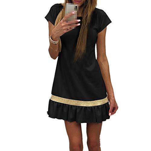 ✿✿ Amlaiworld Sommer Frühling Niedlich Mini Kleider süße Freizeit Damen Faltenrock Outdoor Stilvoll Elegant Dress Gemütlich Mode Bequeme Kleid -