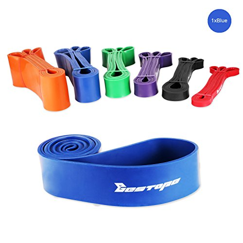[Resistance Bands] BESTOPE Premium Latex Pull Up Fitness Exercise Bands Workout Strap Exercise Loop Crossfit Bands for Strength Weight Training and Yoga