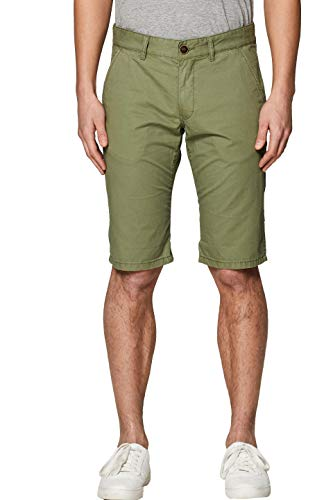 edc by ESPRIT Herren 999CC2C800 Shorts, Grün (Olive 360), W(Herstellergröße: 32)