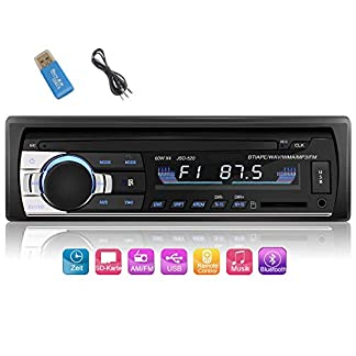 iWalker-Autoradio-mit-Bluetooth-Freisprecheinrichtung-Digital-Media-ReceiverEinzel-DIN-Receiver4-x-60W-Auto-Radio-1-Din-FMBTUSBTFSD-MP3-Media-PlayerSchwarz
