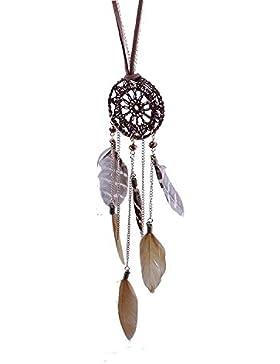 Sunnywill Dreamcatcher Feder Federn handgewebte Halskette long Pullover Kette für Frauen Mädchen Damen