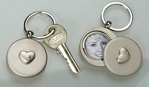 GILDE a forma di chiave portachiavi a forma di cornice portafoto con supporto specchio a (Portachiavi Portafoto)