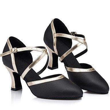 Scarpe da ballo - Disponibile su misura - Donna - Latinoamericano - Stiletto - Pelle - Nero Black
