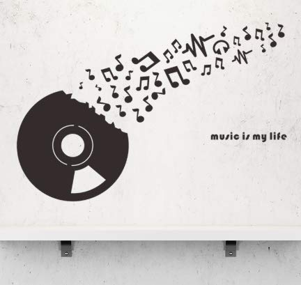 Preisvergleich Produktbild Zhyp Wall Sticker Rekord Cd Musik Wandaufkleber Tanz Klassenzimmer Bar Abnehmbare Muurstickers Vinyl Kunst Wandhauptdekor Selbstklebende Tapete