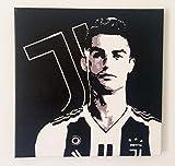 FRATTA–Cristiano Ronaldo–CR7–Juventus–Cuadro Moderno Pintado a Mano–Pop Art Effect–Bild/Painting/Cadre