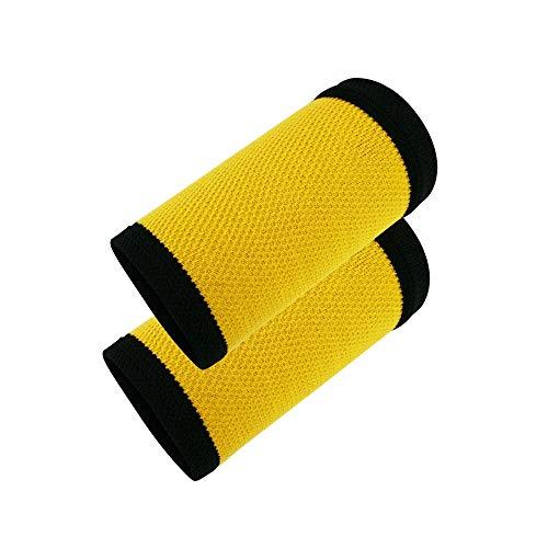 Sweatband Sportarmband - Sportarmband Handtuch, Nylon, schnelltrocknend, leicht, schweißabsorbierend, atmungsaktiv, für Laufen, Basketball, Herren, Damen, Kinder für Basketball Orange-Schwarz