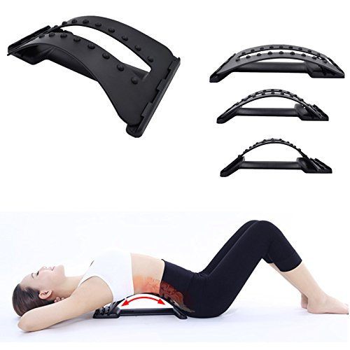 Imported and new Stretching Magic Lumbar Support Waist Neck Relax Mate Device Spine Pain Relief Back Massage Stretcher