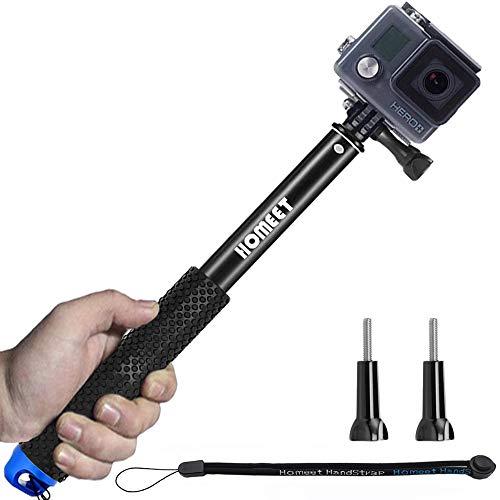 Homeet 49CM Selfie Perche Etanche d' Action Caméra Monopode Extensible Baton Télescopique Selfie...
