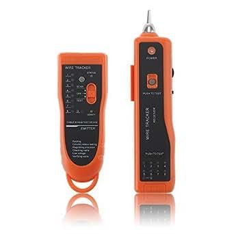 Patuoxun Testeur de câble réseau Traceur téléphonique BNC RJ45 RJ11