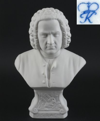 Busto Figurine Porcellana Johann Sebastian Bach grande