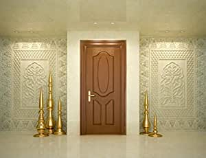 Masonite High Density Fiber Wood 3 Panel Oval Door (27-inch Width)