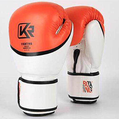 LIYUEJING Guantes De Boxeo Profesionales Hechos De Material De Cuero Grueso Adecuado para Artes Marciales, MMA, Sparring Y Guantes De Taekwondo De Boxeo,Naranja,8oz