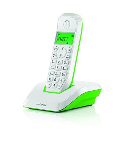 Motorola S1201 - Teléfono inalámbrico, Color Verde