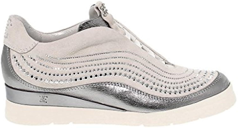 Fabi Mujer FD4161SILVER Plata Cuero Zapatillas  Venta de calzado deportivo de moda en línea