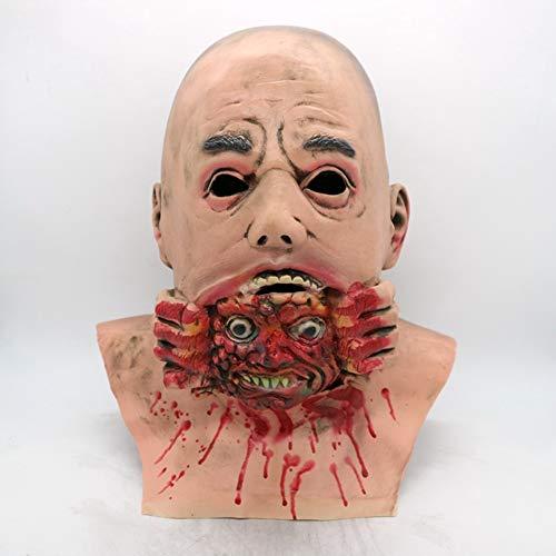 Circlefly Latex Glatze Ghost halloweenmaske ekelhaft Zombie Maske Perücke Ostern Horror biochemische Zombie Haube