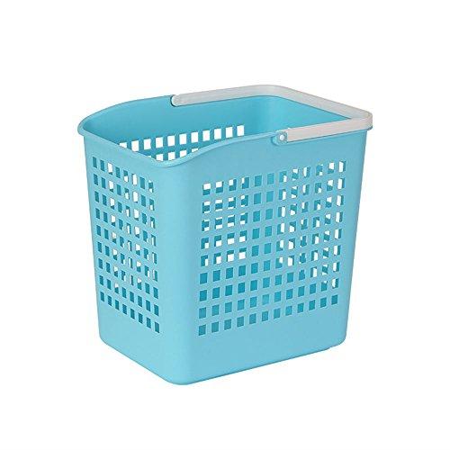 Plastic bain paniers à linge, 6 couleurs disponibles ( Couleur : D )