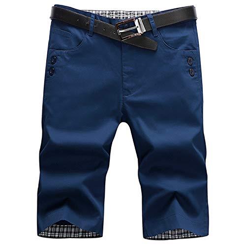 Herren Laufen Board Shorts mit einstellbare, Slim fit Schnitt Besonders weich und bequem Herren Sweatshorts Kurze Hose,Einfarbige Strandhose 5 38