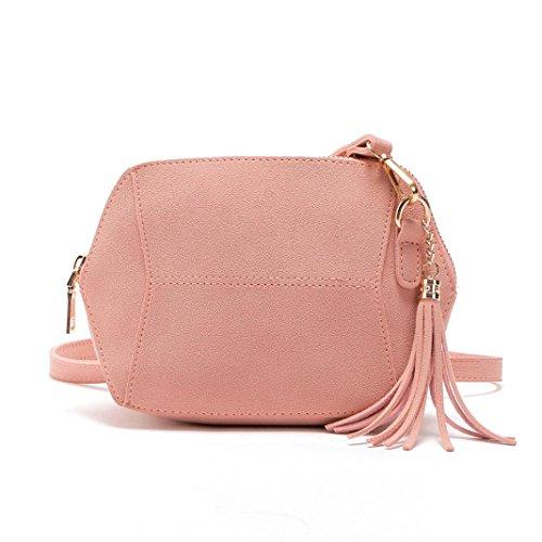 Bolsos Para mujer, RETUROM Bolso de hombro de cuero suave de las mujeres de la manera para el estudiante (rosa)