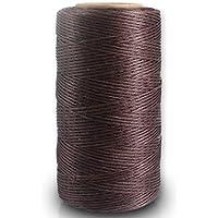 GEWA chste cuerda, 150d 0.8mm cuerda encerada piel Sewing Stitching plano Cera cuerda para hilos (150d 0.8mm 260m) 023# Marrón