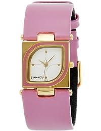 Sonata Analog White Dial Women's Watch -ND8919YL01AC