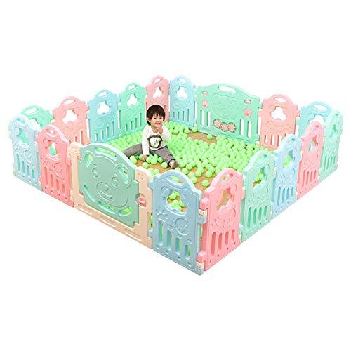 ZQSB Baby Laufgitter Kids Activity Center Sicherheit, Baby-Laufstall mit Spielstation, Exquisite Textur, Tragbares Falten, Geeignet für Schulwohnzimmer -