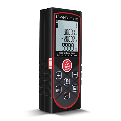 LERVING Laser-Entfernungsmesser 0.05 bis 70m Distanzmessgerät Hohe Präzision