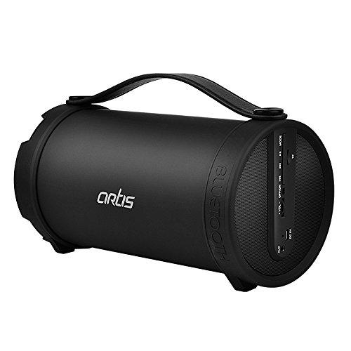 Artis BT306 Wireless Portable Bluetooth Speaker with FM/TF Card Reader/AUX in (Black)