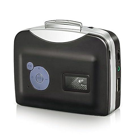 IIEasy Portable numérique USB Cassette baladeur Audio et convertisseur dispose également de Tape-à-MP3 Player avec câble USB et Cd logiciel Auto Reverse - pour PC