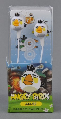 Angry Birds In-Ear Kopfhörer Nintendo Sony PSP Iphone Ipad in weiß Angry Birds Psp