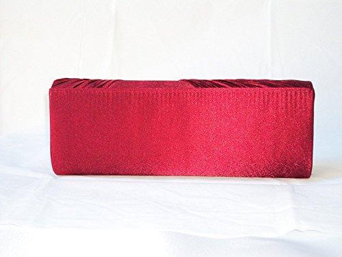 Evening Clutch XPGG-Borsa regalo, motivo: buon 018 spalla da donna Nero (rosso)