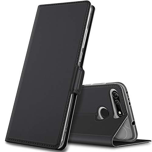 GEEMAI Cover per Honor View 20/Honor V20,Flip Case Custodia a Portafoglio in PU Premium Protezione di Lunga Durata,Compatibile per Honor View 20/Honor V20 Smartphone.(Nero)