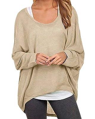 ZANZEA Women Loose Solid Irregular Long Sleeve Baggy Jumper Casual Tops Blouse T-Shirt