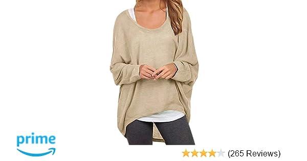 Damen Pulli Oversitze Pullover Tunika Feinstrick Locker Sitzend S//M//L