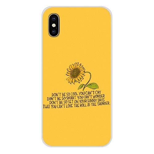 Handy-Shell-Fall Hippie Ästhetik gelb-Muster für iPhone X XR XS MAX 4 4S 5 5S 5C SE 6 6S 7 8 Plus ipod Touch 5 6-in Hälfte, Bilder 6, für iPhone 8 Plus (Billige Lustige Iphone 4s Fällen)