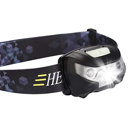 Eizur LED Stirnlampe, USB Wiederaufladbare Hellste Kopflampe Wasserdichte Sensor Scheinwerfer Taschenlampe für Sport Jogging Laufen Kampierend Wandern Angeln Lesen
