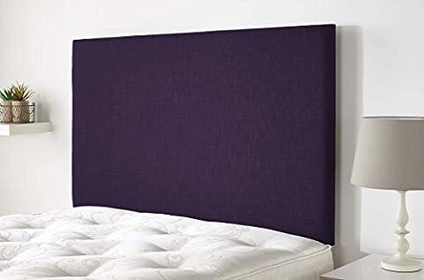 Aspire Furniture Derwent Headboard in Malham Weave Fabric - Purple - Double 4ft6