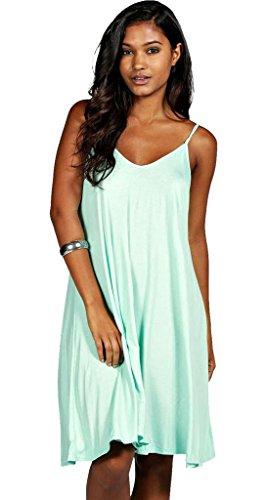 Vanilla Inc Womens Ladies Plus Size Top Cami Strappy Swing Dress ... ebb67ae1b