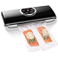 Homgeek Food Saver Vacuum Sealer Machine, 3 in 1 Bag Sealer with Auto Manual Vacuum Sealing, Vacuum Suction, Built in Bag Cutter