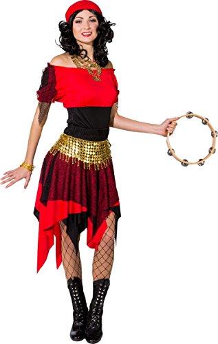 Orlob Damen Kostüm Wahrsagerin Zigeunerin Karneval Fasching Gr.46/48