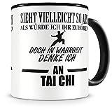 Samunshi® Ich denke an Tai Chi Tasse Kaffeetasse Teetasse Kaffeepott Kaffeebecher Becher