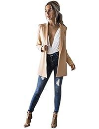 06b4dedf2da05 Bluestercool Femmes Blousons Manche Longue Mode Décontractée Blazer Suit Veste  Manteau Outwear