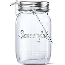 SONNENGLAS® Original | Solar-Laterne im Einmachglas mit Micro-USB Anschluss | Fair Trade aus Südafrika | Bekannt aus Pro7 Galileo | Glas und Edelstahl | Sun Jar Solarlampe